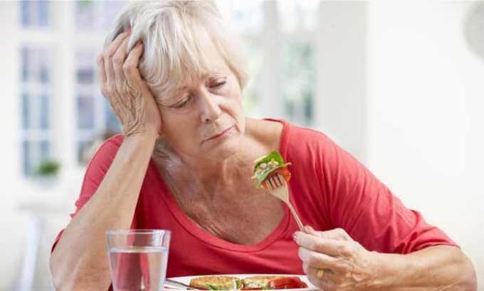 У лечащегося может исчезнуть аппетит