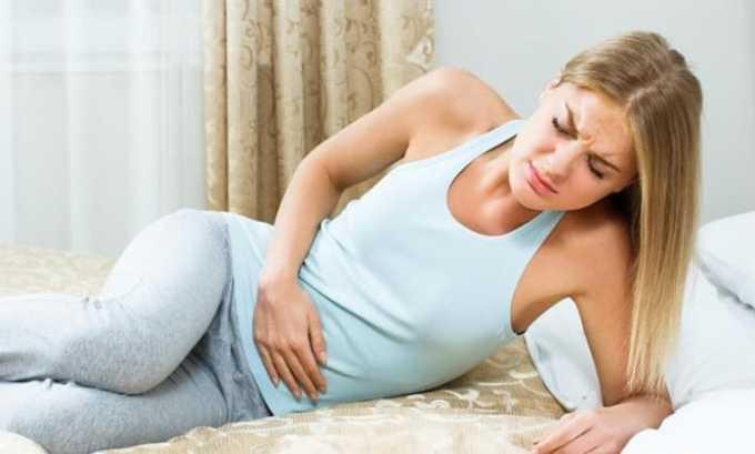 При превышении рекомендуемых дозировок возникают боли в области живота