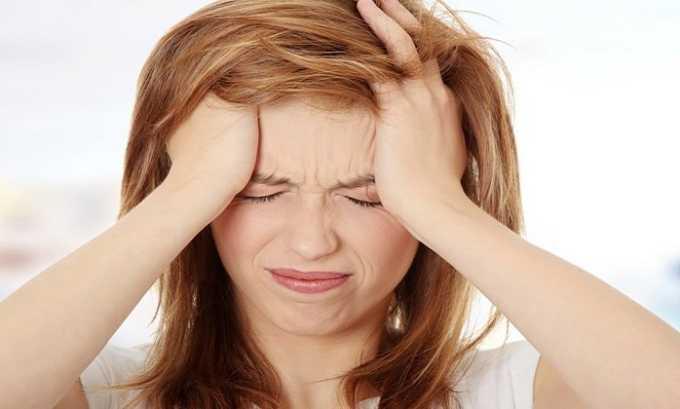 После приема препарата возможны головные боли и головокружения