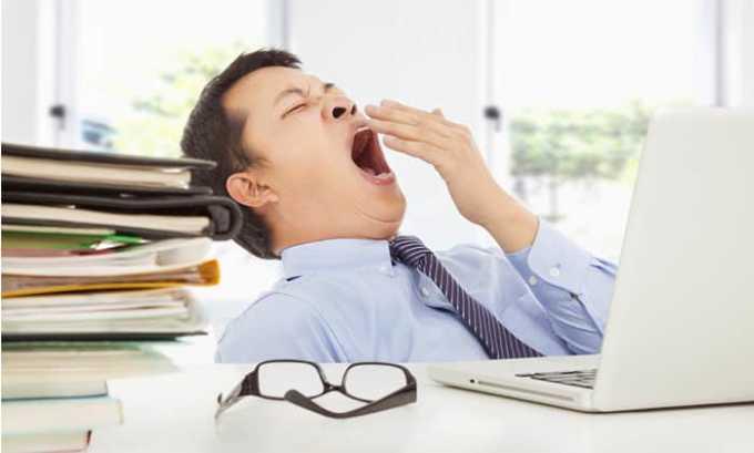 Во время приема средства могут возникнуть побочные явления в виде сонливости