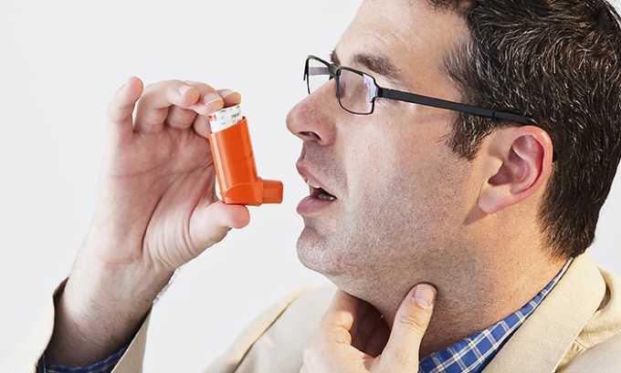 Препарат не рекомендуется пациентам с бронхиальной астмой