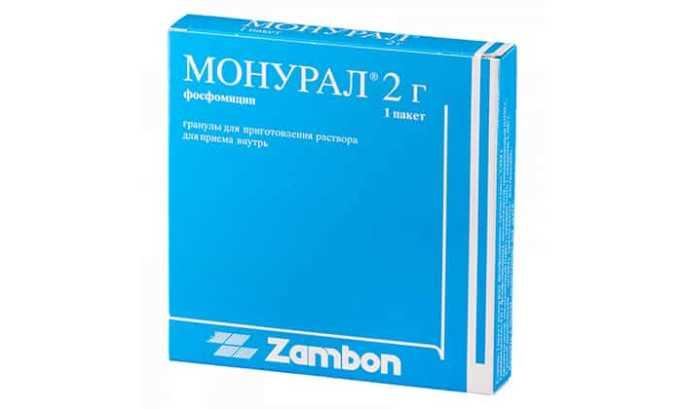 Монурал - порошок для приготовления раствора, принимается внутрь, имеет широкий спектр действия, курс лечения составляет всего 1 день