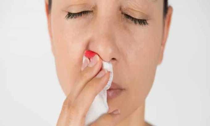 Побочный эффект может проявиться в носовом кровотечении