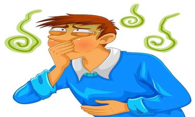 Во время приема препарата возможно появление тошноты рвоты