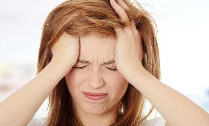 Побочное действие препарата со стороны ЦНС: головная боль
