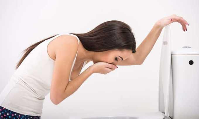 В ходе лечения может возникнуть тошнота