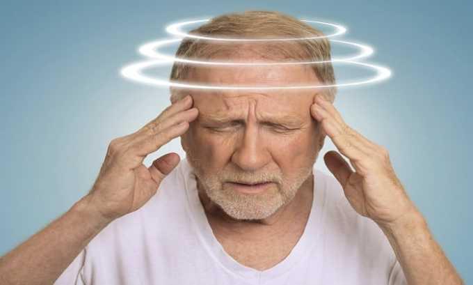 Головокружение считается признаком передозировки препаратом Нимедар