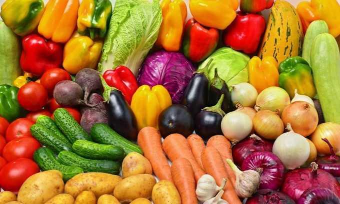 Рекомендуется есть больше свежих овощей