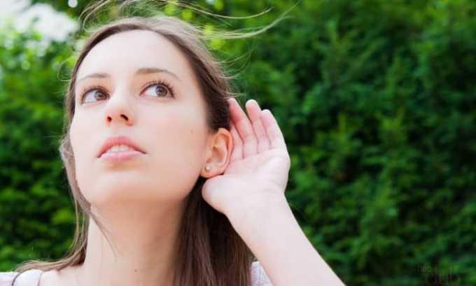 Препарат может дать осложнения на органы слуха