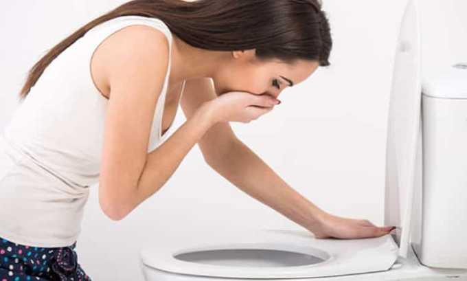 Во время лечения могут возникать следующие побочные действия - тошнота и рвота