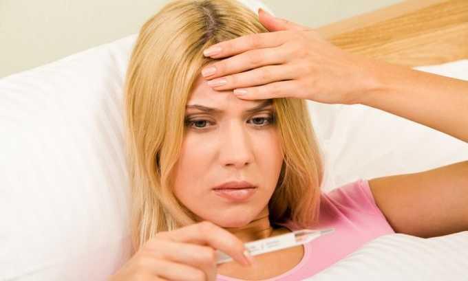 На поздних стадиях отмечаются симптомы интоксикации, к их числу относится повышение температуры