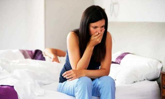 Во время лечебного курса может проявиться тошнота