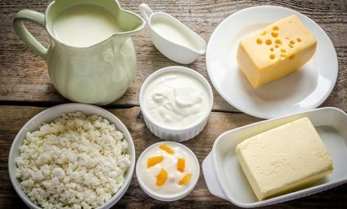 Можно также употреблять нежирную молочную продукцию