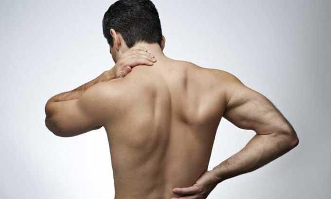 Анальгетик применяют при боли в мышцах и спине