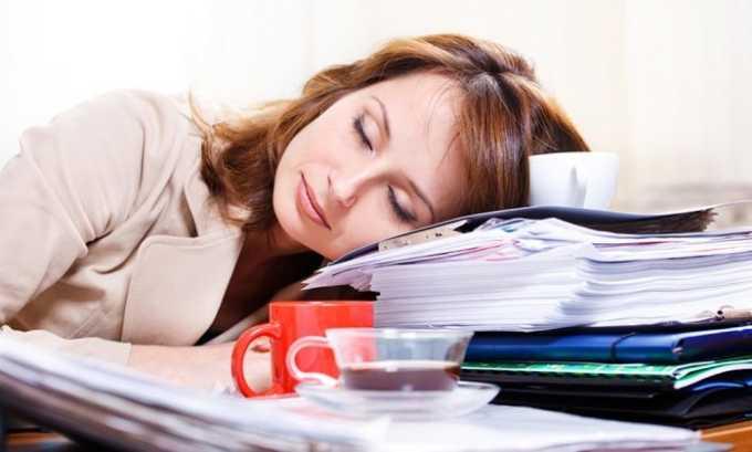 При передозировке препаратом возникает сонливость