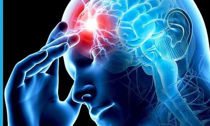 Назначают препарат при нарушении циркуляции крови в области мозга по ишемическому типу