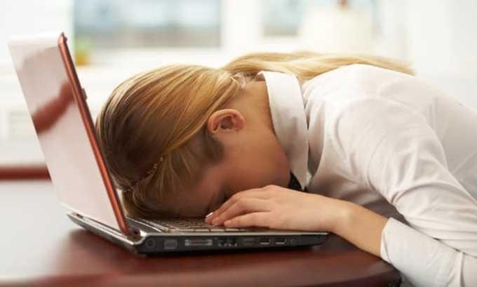 При передозировке может наблюдаться сонливость