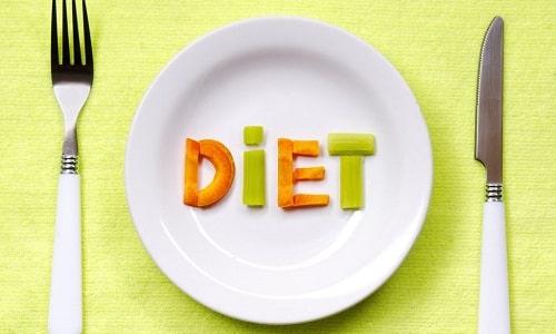 Чтобы лечение было более эффективным, необходимо придерживаться строгой диеты