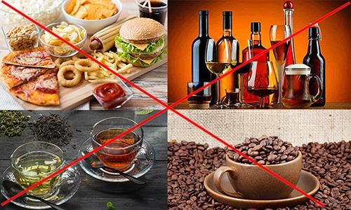 При цистите из рациона исключают продукты, повышающие кислотность мочи