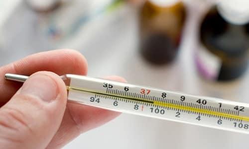 При повышении температуры до +39°С и выше рекомендуется принимать лекарство 2-3 раза в день по 100 мг Нимесила
