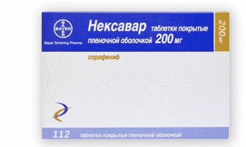 Нексавар - противоопухолевое средство, действующее в отношении некоторых типов раковых клеток