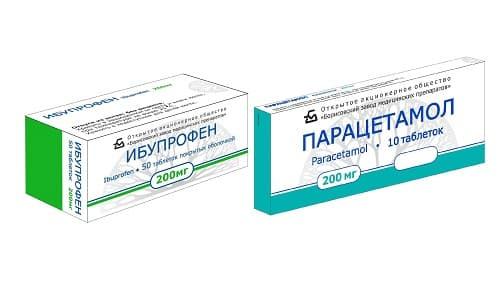 Ибупрофен или Парацетамол, используются при возникновении в организме воспалительных процессов, сопровождающихся жаром и повышением температуры