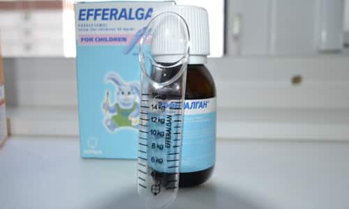Для детей выпускается суспензия с мерной ложкой (детский сироп)