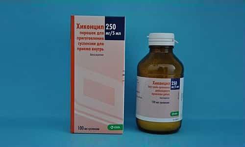 Хиконцил относится к большой группе антибиотиков. Он представлен в виде полусинтетического пенициллина