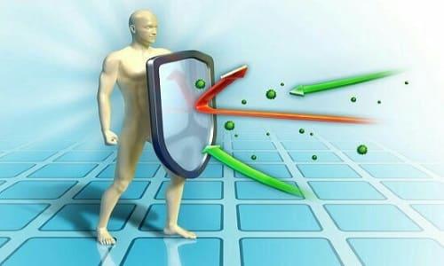 Препарат способствует подъему клеточного и общего иммунитета