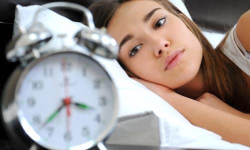 В редких случаях от препарата может наблюдаться нарушение сна