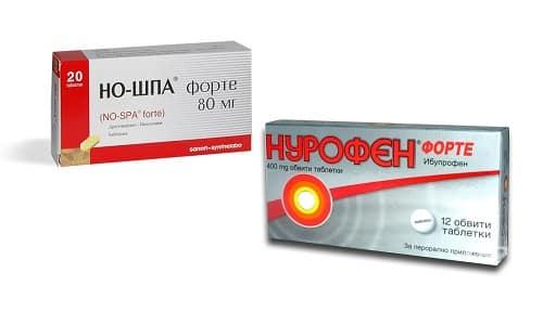 Но-шпа и Нурофен - это лекарственная смесь, которая традиционно используется при лихорадке и высокой температуре