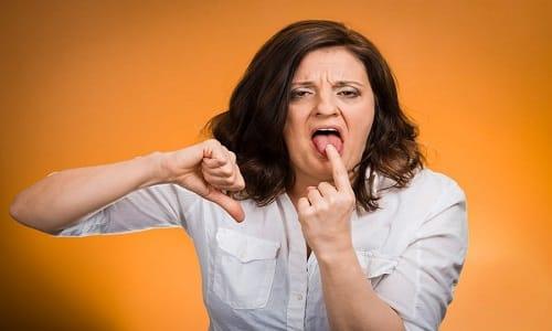 От применения препарата может возникнуть неприятный вкус во рту