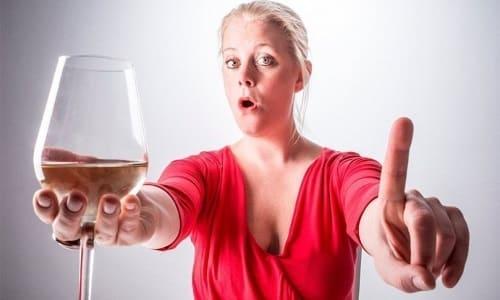 Употребление алкогольных напитков во время приема лекарственного препарата запрещено