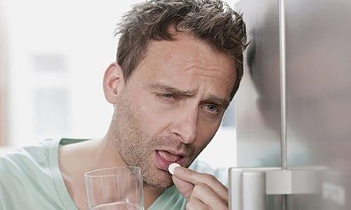 При тяжелом течении заболевания принимают по 2 таблетки 2 раза в день