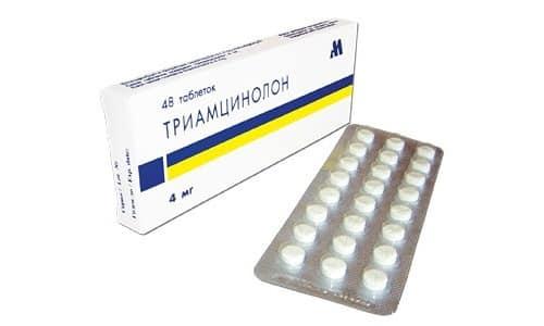 Для снятия воспаления, подавления иммунитета, устранения симптомов аллергии часто назначается Триамцинолон