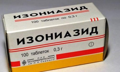 Изониазид быстро всасывается в ЖКТ и проникает в кровь
