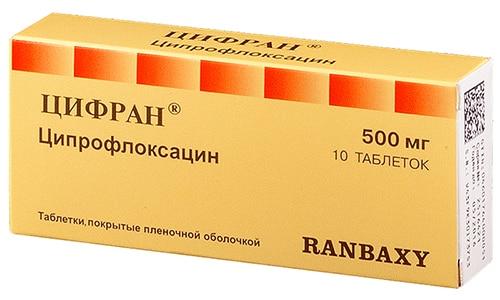 Антибиотик Ципринол можно заменить средством Цифран