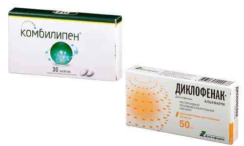 Комбилипен и Диклофенак - средства, используемые при патологиях нервной системы и позвоночника, суставов