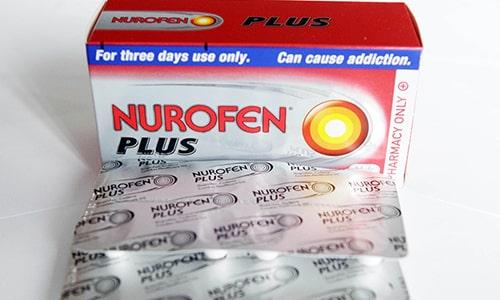 Нурофен плюс выпускаются в блистерах по 2, 4, 6, 12 таблеток, которые упаковывают в картонные коробки