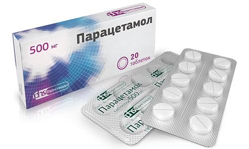 Белые таблетки Парацетамол 500 мг выпускаются по 10 шт. в пластиковых блистерах или в бумажной конвалюте, упакованные в картонную коробку