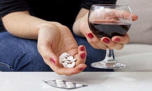 Медикамент противопоказан при приеме спиртного