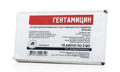 Антибиотик Гентамицин используется для лечения инфекционно-воспалительных заболеваний