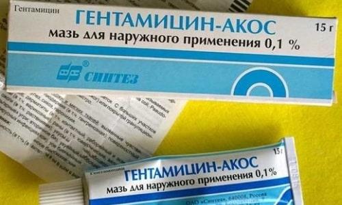 Гентамицин Акос используется для наружной обработки инфекционных поражений кожных покровов