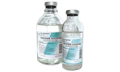 В состав инъекционного раствора входит хлорида натрия