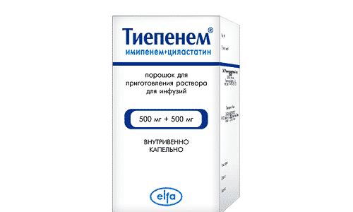 Тиепенем - антибактериальный препарат, используемый для устранения инфекций, вызываемых чувствительными к карбопенемам микроорганизмами