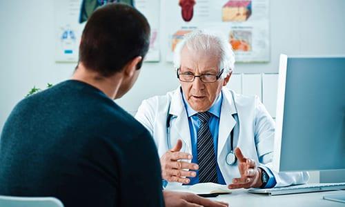 Срок лечения определяется доктором при учете состояния больного и течения патологии